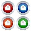 Set of buttons with a picture of an envelope — Vector de stock  #29745361