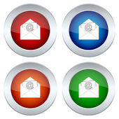 Set of buttons with a picture of an envelope — Stock Vector