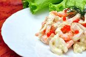 Královská rybí salát — Stock fotografie