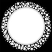 Round frame with stars — Stock Vector