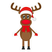 Christmas reindeer — Stock Vector