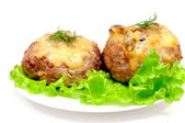 Cutlet stuffed with mushrooms — Stock Photo