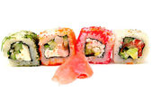 Colored Japanese rolls — Photo
