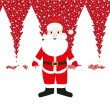 Santa claus in the forest — Stock Vector