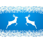 Merry Christmas background with snowflakes, — Stock Vector