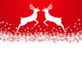 Merry Christmas background with snowflakes — Stock Vector