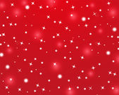 Red Christmas background with shiny stars — Stock Vector