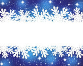 Banner with paper snowflakes on a blue background — Stock Vector