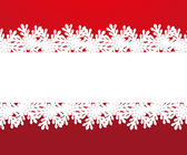 Banner with paper snowflakes on a red background — Stock Vector