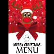 Stock Vector: Christmas menu