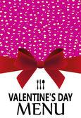 Menu Valentine's Day — 图库矢量图片