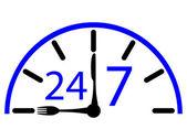 Time work cafe — Vector de stock