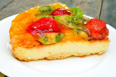 Fruit and berry cheesecake — Foto Stock