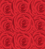 Wallpaper pattern with of red roses — Stock Vector