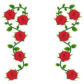 Red roses background for greeting card — 图库矢量图片