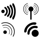 Set Icons Wi fi — Stock Vector