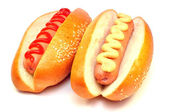 Two classic hot dog — Stock Photo