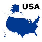 Mapa de estados unidos de américa — Vector de stock