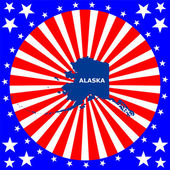 Map of the U.S. state of Alaska — Stock Vector