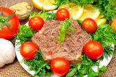 Jellied meat — Stock Photo