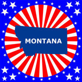 Map of the U.S. state of Montana — Stock Vector