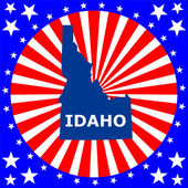 Map of the U.S. state of Idaho — Stock Vector