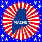 Map of the U.S. state of Maine — Stock Vector
