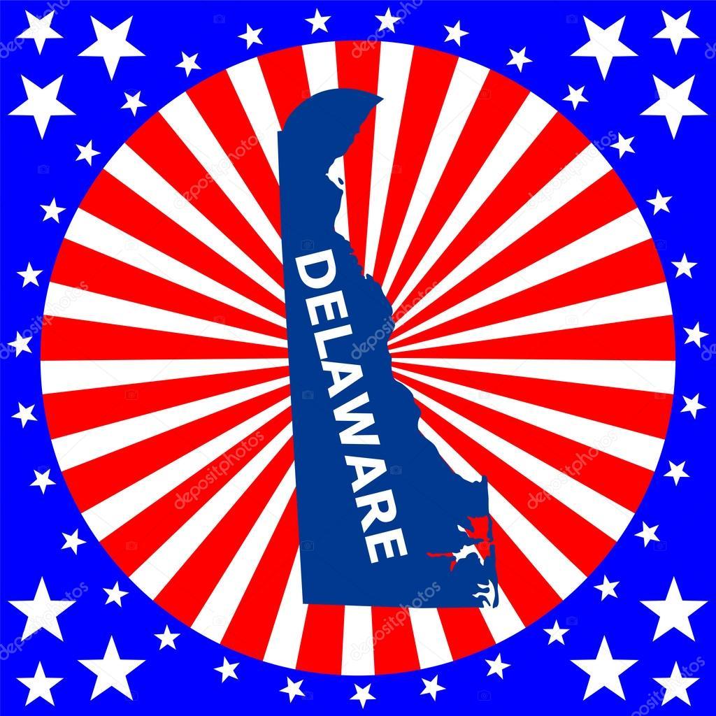 匹配的美国特拉华州电子地图