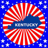 Karta över den amerikanska staten i kentucky — Stockvektor