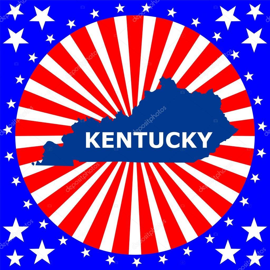 匹配的美国肯塔基州的电子地图