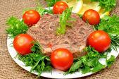 Galarecie mięso świeże zioła — Zdjęcie stockowe