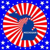 Map of the U.S. state of Michigan — Vecteur