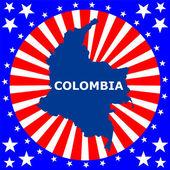 Carte du district de columbia aux états-unis — Vecteur