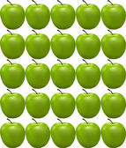 Seamless pattern with green apple — Stock Vector