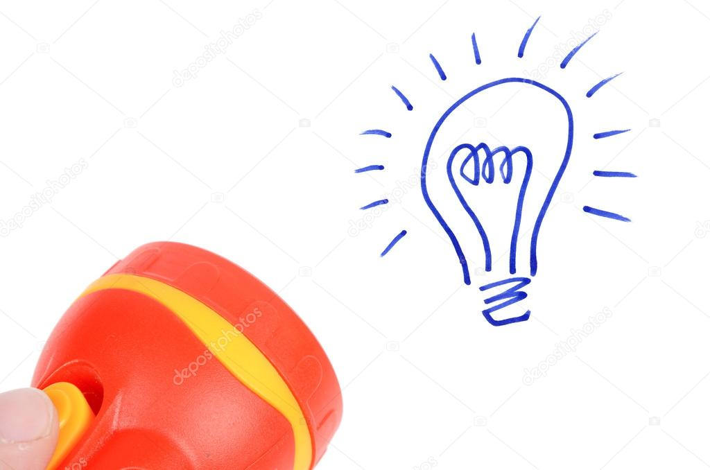Light bulb and flash light — Stock Photo #12525230