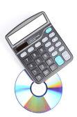 DVD and calculator — Stock Photo