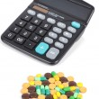 Medicine and calculator — Stock Photo #12632943