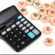 Calculator and xiangqi — Stock Photo