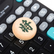Calculator and xiangqi — Stock Photo #12723376