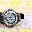 Map and digital compass — Stock Photo #12808471