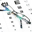 Stock Photo: Eye chart
