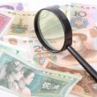 Magnifier and chinese currency — Stock Photo #13151831