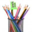 Color pencils and sharpener — Stock Photo #13152530
