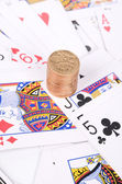 Poker and coin — Stock Photo
