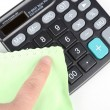 Cleaning calculator — Stock Photo