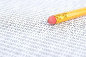 Pencil and binary code — ストック写真
