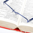 Dictionary and glasses — Foto de Stock