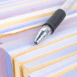Documents and pen — Stockfoto