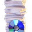 Documents and DVD — Stock Photo #13362356