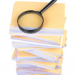 Royalty-Free Stock Photo: Documents and magnifier